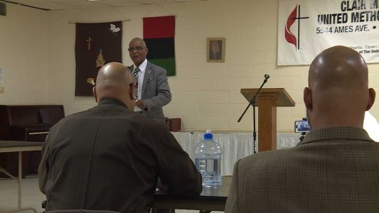 Council president Ben Gray holds town hall