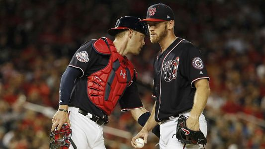 Nationals' Stephen Strasburg, Max Scherzer caught exchanging words in dugout