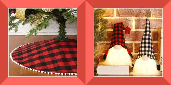 Buffalo-plaid Christmas decor is our favorite way to warm up the holiday home