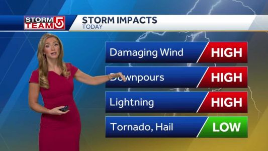 Video: 2 rounds of storms expected Wednesday