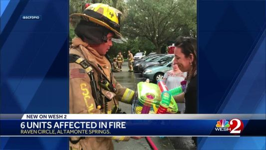 Firefighter injured, 6 units affected in Altamonte Springs fire, officials say