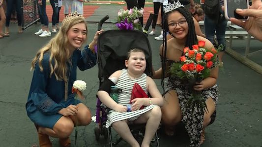 7-year-old with inoperable brain tumor crowned homecoming queen