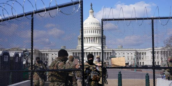 Photos show intense security around the US Capitol ahead of a QAnon insurrection that nobody showed up for