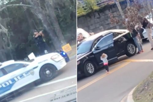 Footage shows cops pointing guns at toddler during parents' arrest