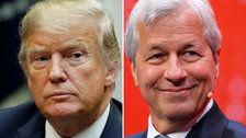 Trump hits back at Jamie Dimon, says JP Morgan CEO doesn't have the 'smarts' to run for president