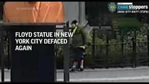 Floyd statue in New York City defaced again