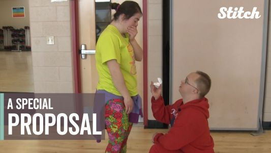 Couple who met at their YMCA's Special Olympics have the sweetest marriage proposal