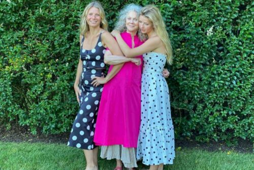 Gwyneth Paltrow, mom Blythe Danner and daughter Apple pose for new Goop launch