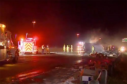 Massive toilet paper shipment wiped out in fiery wreck