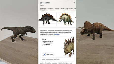 Google brings dinosaurs back to life. through new augmented reality feature