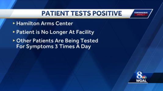 Hamilton Arms Center patient tests positive for coronavirus