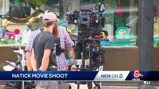 MetroWest town center transformed into movie set