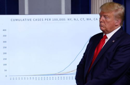 Trump's dark shift in tone on the coronavirus came after new data projected 240,000 US deaths, and a stalwart ally savaged his response