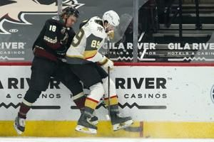 Coyotes hand Golden Knights first loss of the season, 5-2