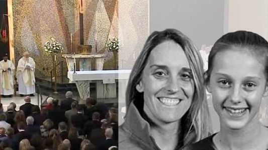 Hundreds say goodbye as Carrie and Kacey McCaw laid to rest
