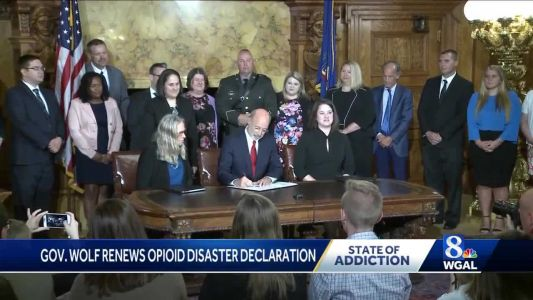 Governor renews opioid disaster declaration for sixth time