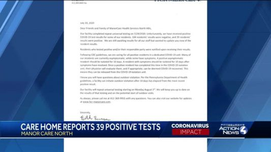 ManorCare Health Services North Hills reports 39 positive COVID-19 cases