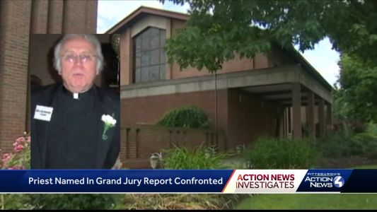Pittsburgh priest confronted about allegations in grand jury report