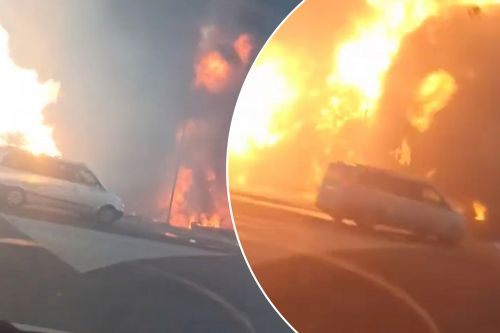 Gas truck explodes into huge fireball
