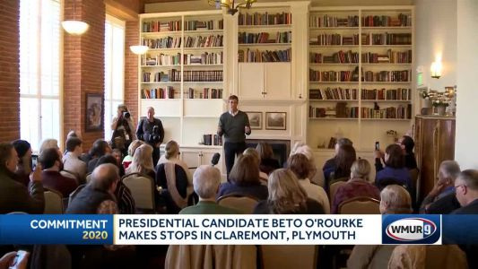 Beto O'Rourke in midst of multi-town visit through NH