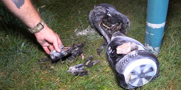 Family says hoverboard caught fire overnight, set home on fire