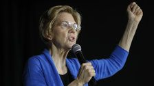 Elizabeth Warren takes on Trump, says he may not be 'free' in 2020