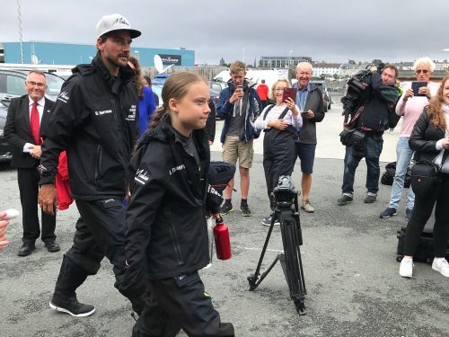 16-year-old climate activist Greta Thunberg says no company on Earth right now has a climate change strategy that's good enough