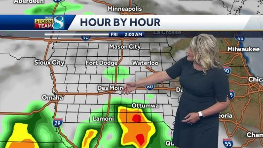 Storms develop in southern Iowa late