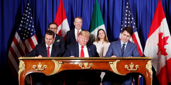 Democrats and White House announce NAFTA rewrite, giving Trump a win as his impeachment scandal rages