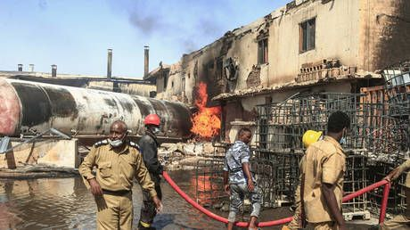 Doctors say 15 killed in Sudan factory fire