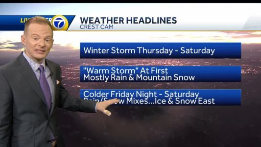 Winter storm will move in Thursday