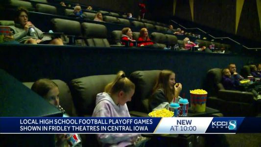 Local high school playoff games shown inside Fridley Theatres
