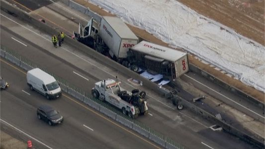 Semi crash shuts down northbound lanes of I-94 in Racine County