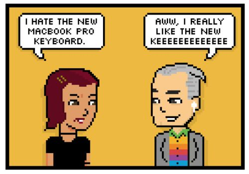 Comic: New Macbooks- Apple's Best Keyboard Ever?