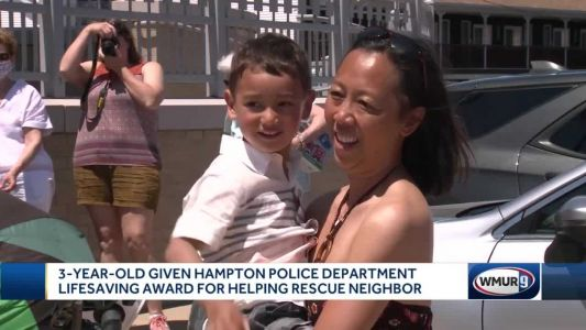 3-year-old boy honored for quick-thinking that saved neighbor trapped in basement