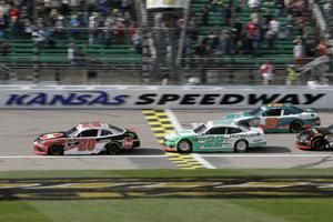 Jones tops Xfinity playoff contenders in wild Kansas race
