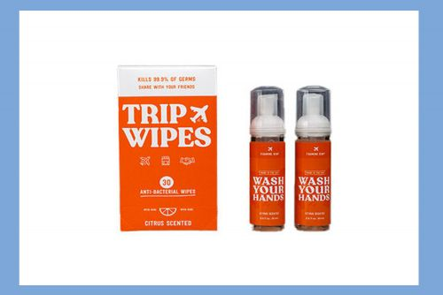 These anti-bacterial wipes and soap are perfect for sanitizing on the go