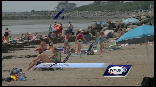 Granite Staters hit beach on hot, humid day