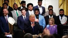 Trump Meets With LSU Footbal Team, Makes It About Impeachment