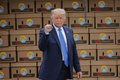 Trump requires food aid boxes to come with a letter from him