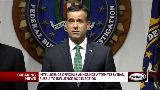 Intelligence officials announce attempts by Iran, Russia to influence election