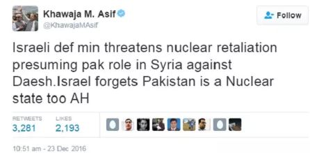 Source of Pakistani nuclear threat against Israel revealed as fake Iranian news site