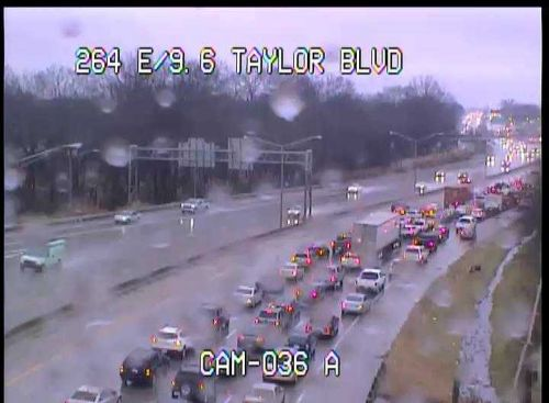 Tractor-trailer, car crash on Watterson Expressway ahead of rush hour commute