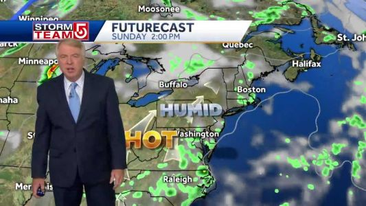 Video: Another beautiful day on tap, but chance of pop-up showers