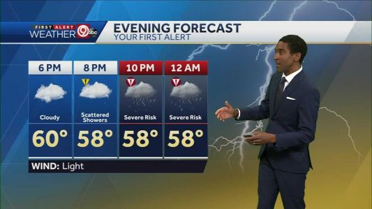 Severe storms possible late Friday
