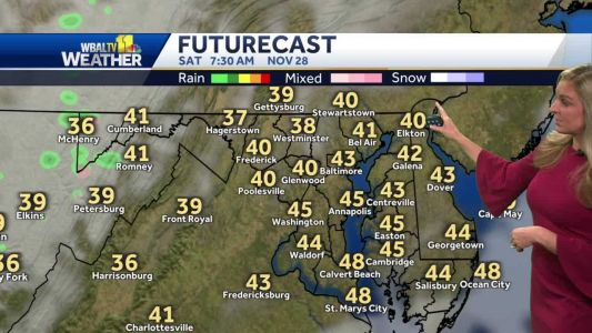 Weekend remains dry in Maryland