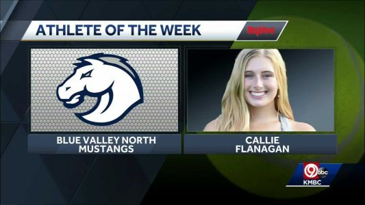 Blue Valley North's Callie Flanagan honored as Athlete of the Week