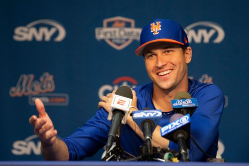 Jacob deGrom made it to camp in one piece, but his Cy Young didn't