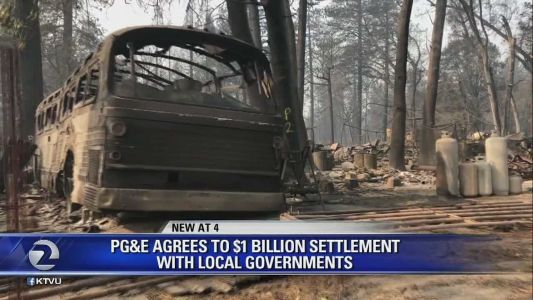 Utility blamed for deadly, destructive California wildfire agrees to pay $1 billion to governments