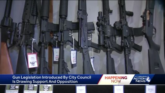 Promised gun legislation introduced in Pittsburgh City Council; gun owners group promises legal fight